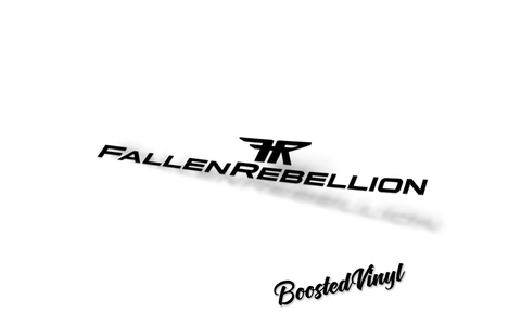 Fallen Rebellion Banner BoostedVinyl BoostedVinyl Custom stickers vinyl apparel shirts hoodies jackets and clothing