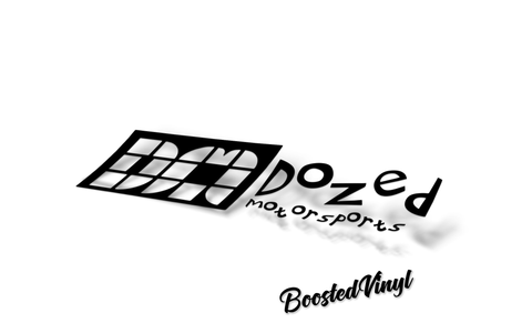 Dozed Motorsports Sticker BoostedVinyl BoostedVinyl Custom stickers vinyl apparel shirts hoodies jackets and clothing