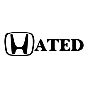 Hated Honda Sticker BoostedVinyl BoostedVinyl Custom stickers vinyl apparel shirts hoodies jackets and clothing