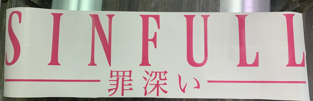 Pink Sinful Banner - BoostedVinyl