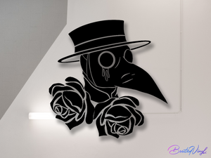 Plague Doctor sticker BoostedVinyl BoostedVinyl Custom stickers vinyl apparel shirts hoodies jackets and clothing