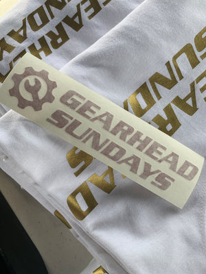 Gearhead Sunday Sticker BoostedVinyl BoostedVinyl Custom stickers vinyl apparel shirts hoodies jackets and clothing