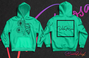Mint Ribcage Hoodie - BoostedVinyl