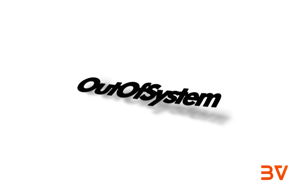 OUT OF SYSTEM Sticker - BoostedVinyl