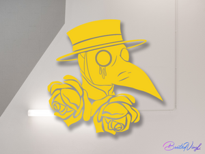 Plague Doctor sticker - BoostedVinyl