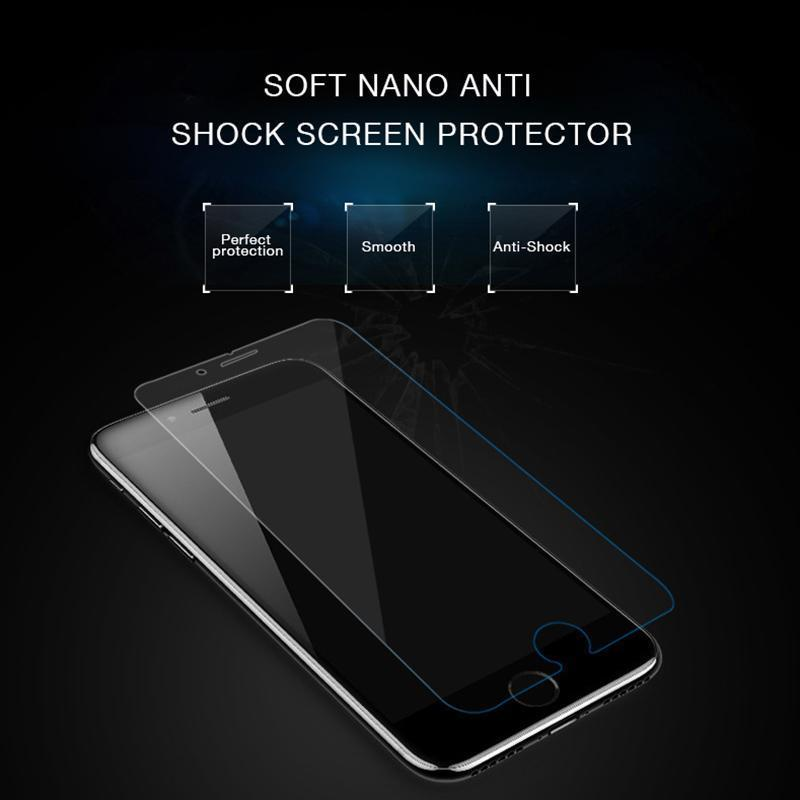 Soft Nanotech HD 360 Full Coverage Screen Protector for iphone samsung huawei Tempered Glass For iphone X XS XS Max 6 7 8 Plus
