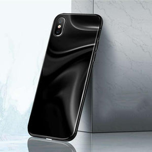 Full Magneto Magnetic Adsorption Metal Case For iPhone X 8 7 Plus Cover Aurora Tempered Glass Phone Case
