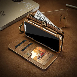 Luxury Retro Wallet Phone Case For iPhone 7 7 Plus  Leather Handbag Bag Cover for iPhone X 7 8 6s  Case Coque