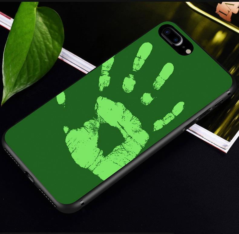 Temperature sensing color changing phone Case Tpu silicone case For iPhone 6 6s 7 8 plux X Matte Thermal Sensor Capa funda