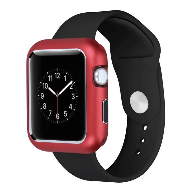 Magnetic Watch Case Strap for Apple Watch iWatch Series 2 3 Aluminum Stainless Steel Metal Protection Cases Watchbands 42mm 38mm