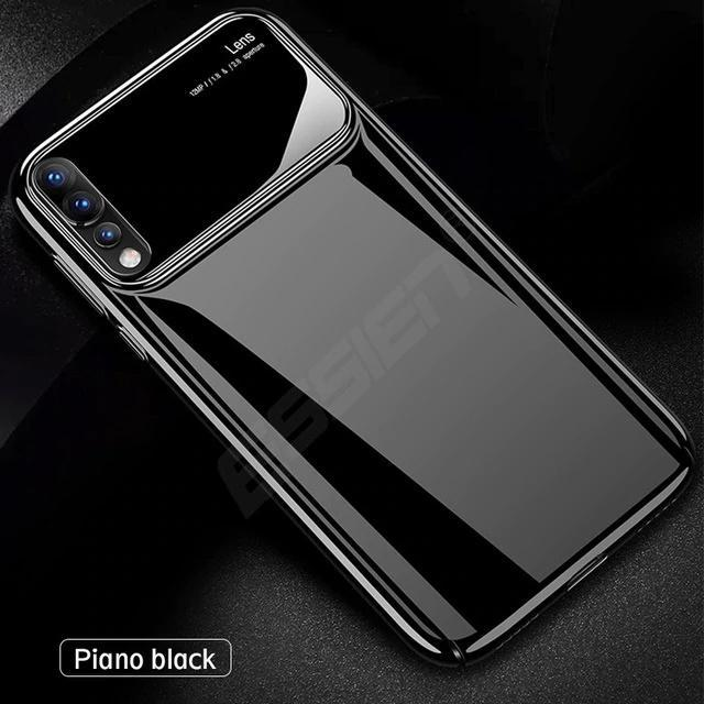 Mirror Bare Case Ultra Thin Tempered Glass Len Case Full Protective TPU & PC Acrylic Hard Clear Case For Huawei P20 P20Pro P20Lite