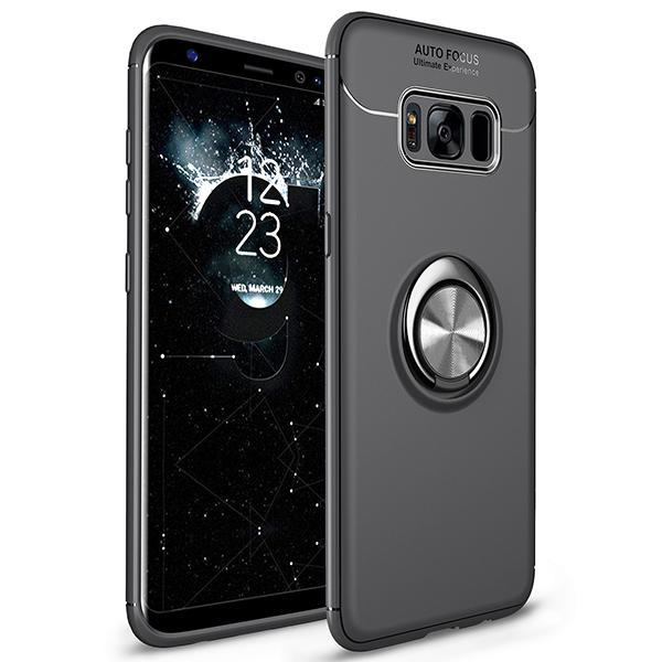 Fashion Ultra-Thin Car Holder Stand Magnetic Bracket Finger Ring TPU Case For Samsung Note 8 S7Edge S8 S8 Plus