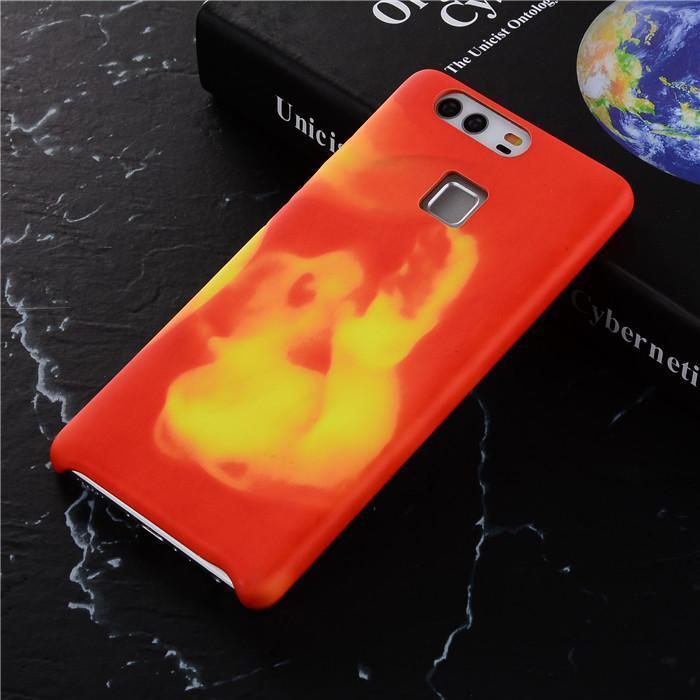 Thermosensitive Temperature Sensing Color Change Case For Huawei P10 9 Lite P10 Plus Phone Case Magic Heat Soft PU Cover