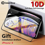 10D HD Fully Covered Rubberized Tempered Film for iPhone X/XS MAX