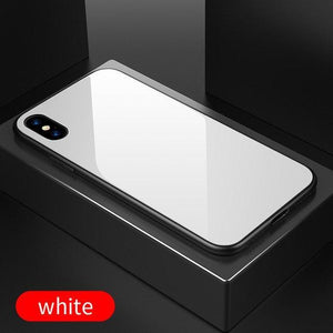 Ultra Thin 9H Hardness Tempered Glass Phone Case For iPhone X 8 8 Plus 7 7 Plus 6 6S Plus