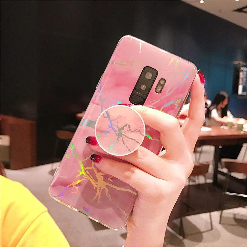 Beily Laser Marble Case for Samsung Galaxy S9 S8 Plus S7 edge Note 8 9