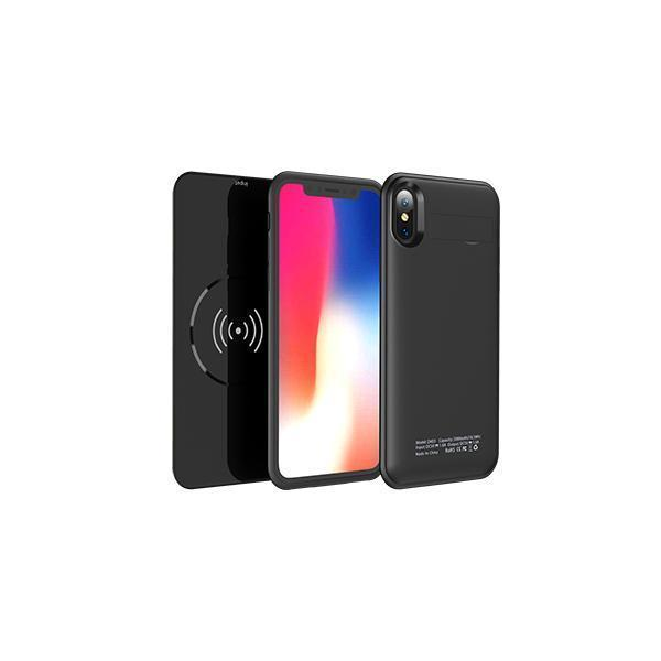 Magnetic Absorption External 5000mAh Battery Wireless Charger Protective Case Stand for iPhone X