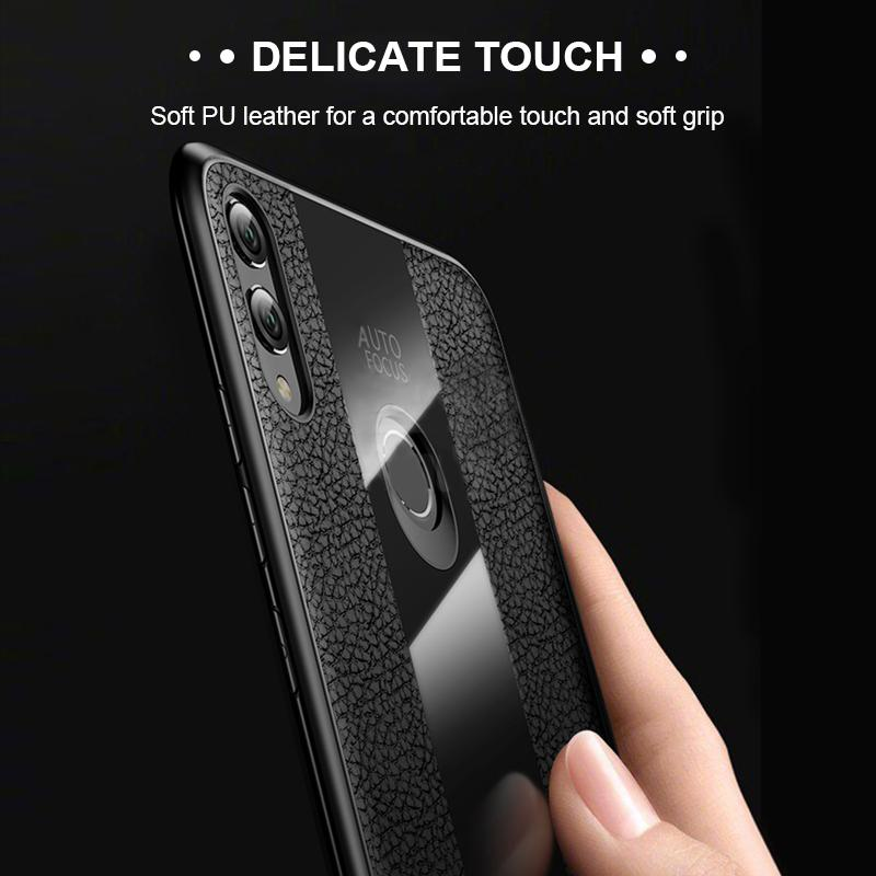 Luxury Leather+Glass Phone Case For Huawei Shockproof Full Cover For HUAWEI P10/P10 Plus/P20/P20 Pro/Nova 3i