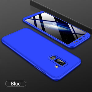 3 in 1 Double Dip 360°Full Cover Protection Hard PC Protective Case For Samsung J8 2018