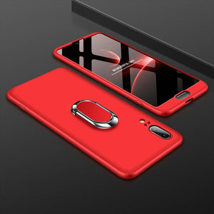 3 in 1 Double Dip 360° Full Body PC Protective Case with Ring Holder for Huawei