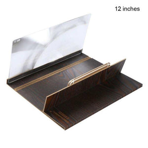 12 inch HD Screen Amplifier With Wood Frame Radiation Protection  Magnifying Glass Bracket