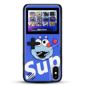 Sesame Street Color Screen Game Console Phone Case For iPhone 6/7/8 6/7/8 Plus X/XS XR XS MAX