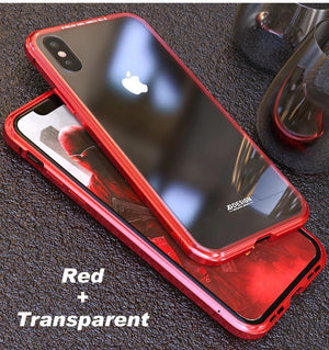 Magnetic Adsorption Flip Case for iPhone