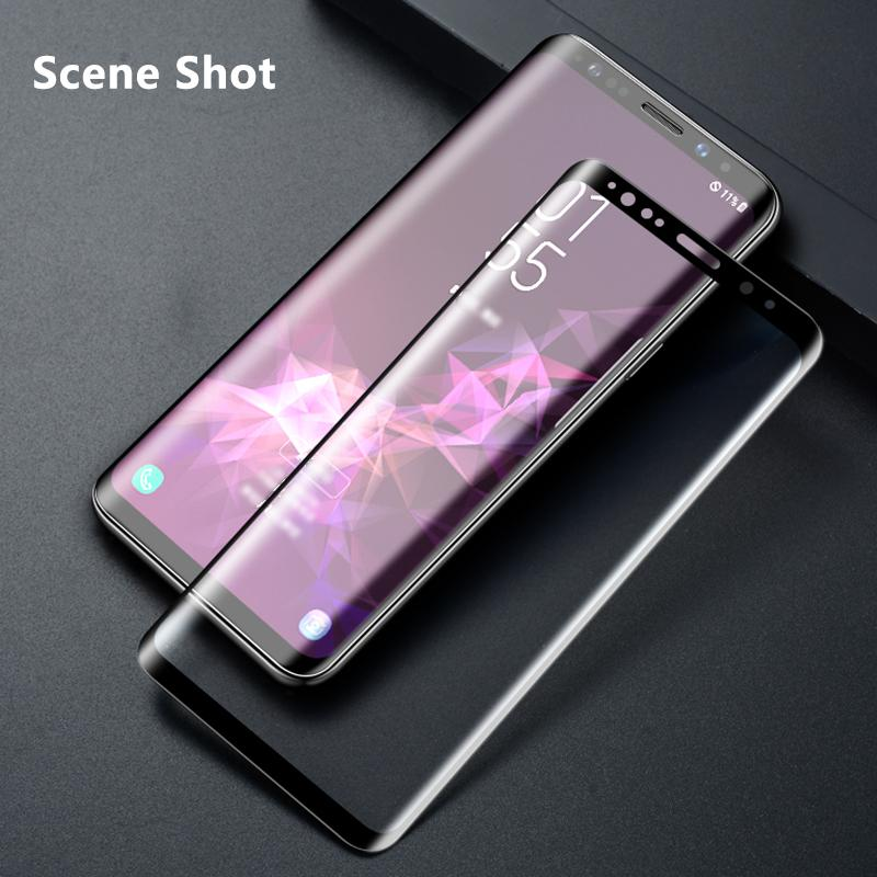 Samsung 10D Curved Full Screen Tempered Film and Free Installation Gift for Samsung S6 edge/S6 edge+/S7 edge/S8/S8 Plus/S9/S9 Plus/Note 8/Note 9