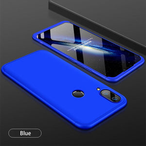 3 in 1 Double Dip 360°Full Cover Protection Hard PC Protective Case For Huawei Y9 (2019)