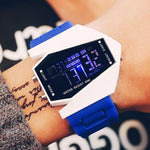 Waterproof Sport Watch Creative LED Jelly Airplane Watch Men's Personality Retro Electronic Watches