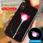 iPhone Calling Light Reminder Mobile Shell TPU Soft Side All Inclusive + Glass Backshell Fashion
