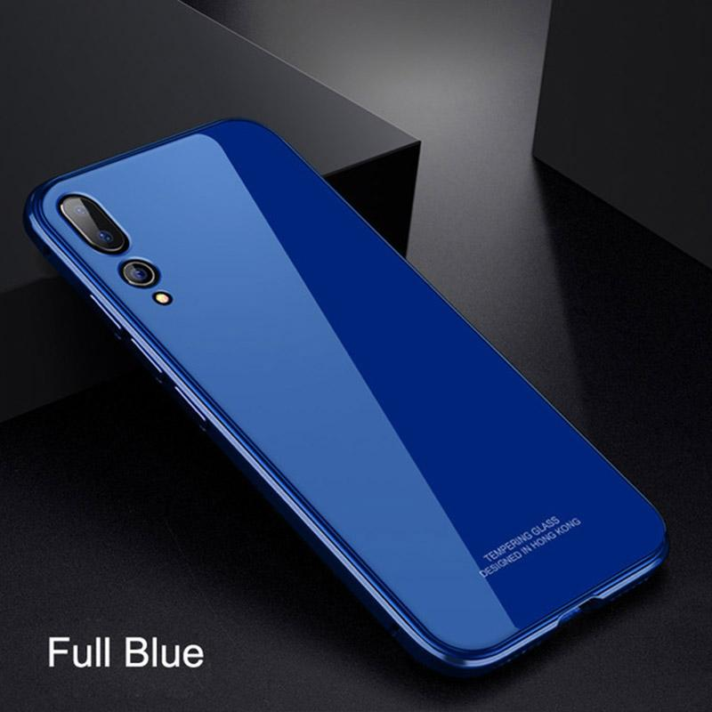 Metal Bumper Case Luxury Plating Frame Hard Clear Tempered Glass for HUAWEI P20/P20Pro/P10/P10Plus