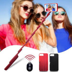 Multi-function Smartphone Bluetooth Wireless Selfie Stick Cellphone Holder Moblie Phone Case for iPhone 7/7P/8/8P/X/XS