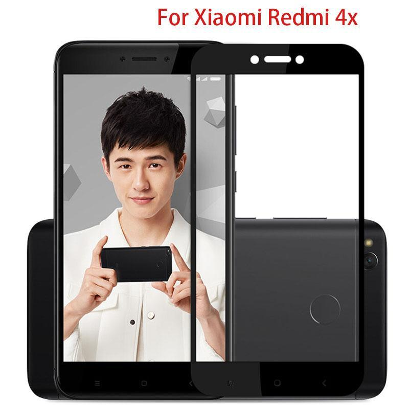 6D Full Cover Tempered Glass For Redmi 4X/Redmi 4 Screen Protector For Redmi protective glass Film
