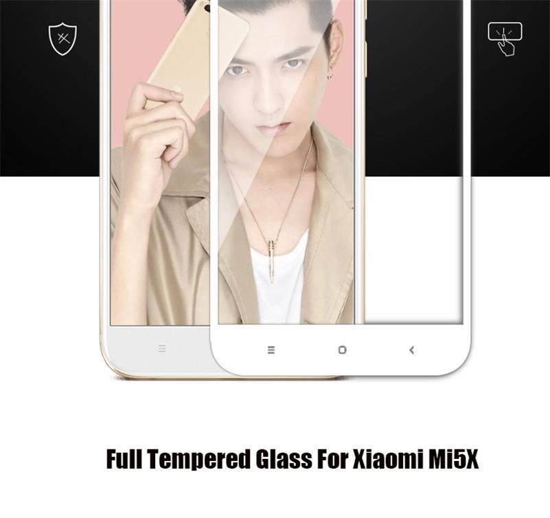 6D Full Cover Tempered Glass For XiaoMi A1/XiaoMi MAX/XiaoMi MAX2/XiaoMi 5 Screen Protector For XiaoMi protective glass Film