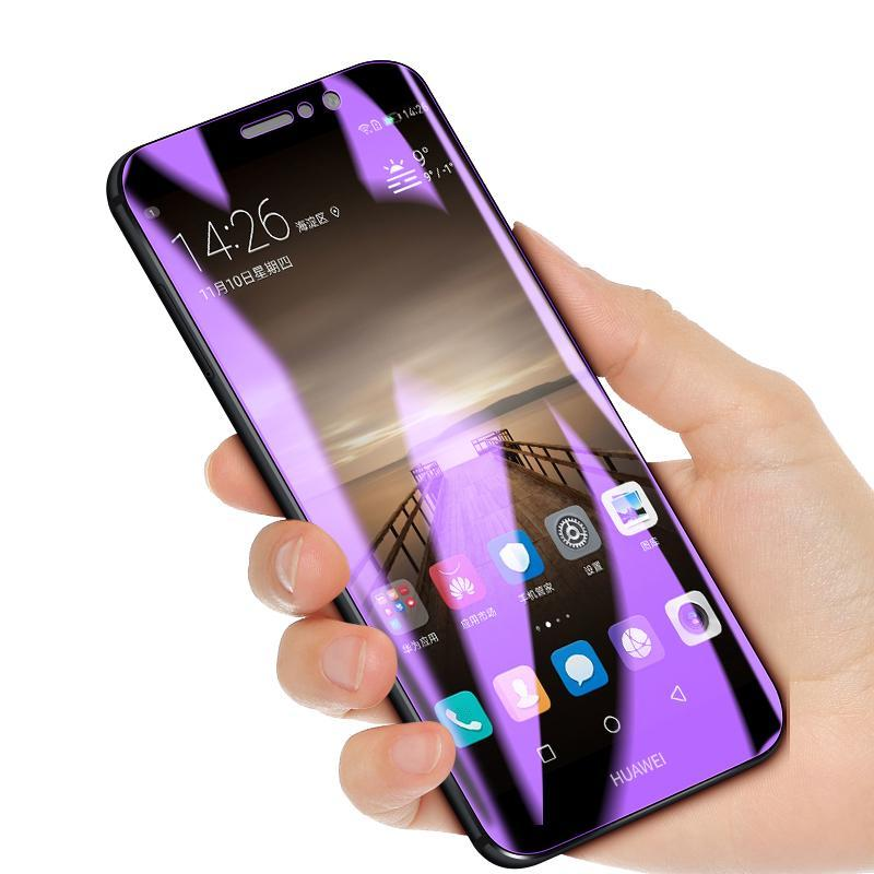 Anti-light blue 3D Full Screen Protector Tempered Film Blue-Ray For Huawei Mate9/10/10Pro/Nova 3i Tempered full Screen Protector