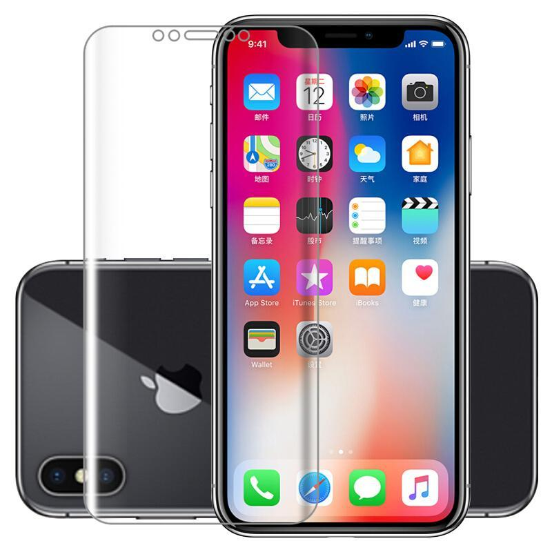 2.5D Curved Clear Soft PET Film For iPhone8/8Plus/7/7Plus/6/6s/6Plus/6sPlus 9H Explosion-proof Cover film for iPhone X XS XR/XS Max Cover Case
