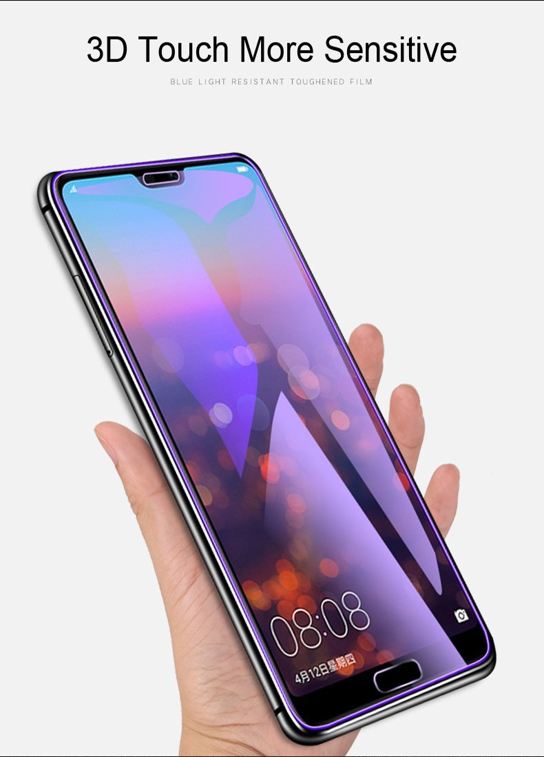 Anti-light blue 3D Full Screen Protector Tempered Film Blue-Ray For Huawei P20/P20 Pro/P20 LiteTempered full Screen Protector