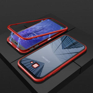 Magnetic Adsorption Flip Phone Case for Samsung J4 PLUS/J6 PLUS