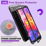 Magnetic Adsorption Case With Free Screen Protector For Huawei P20 Case Metal Frame Tempered Glass Case