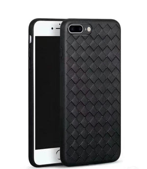 iPhone Plus 7P 6S 6 Plus Luxury Weaving Grid TPU Cover For iPhone 7 Silicone  BreathableCase