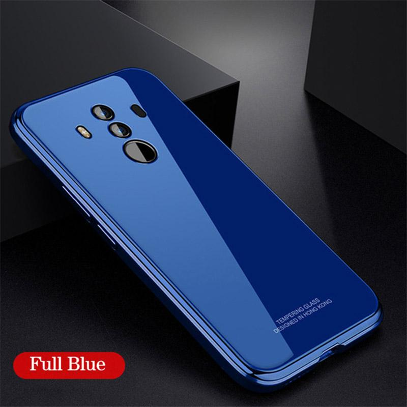 Metal Bumper Case Luxury Plating Frame Hard Clear Tempered Glass  for HUAWEI Mate10/Mate 10 Pro