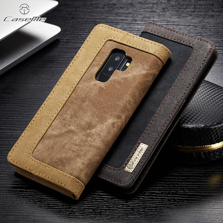 Waterproof Flip Wallet Cover Original Phone Cases for Samsung Galaxy S9 / S9 Plus