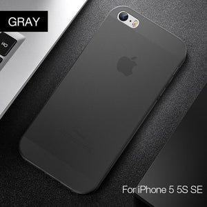 iPhone Clear Chiffon Serise PP Cases Super Slim Phone Cover For iPhone5/5S/SE Ultra Thin Transparent Flexibility Shell