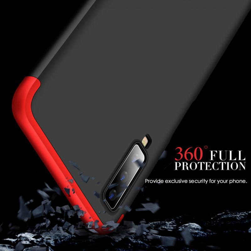 3 in 1 Double Dip 360° Hard PC Protective Case For Samsung Galaxy A7 2018