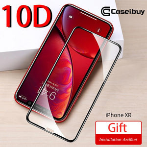 10D Fully covered rubberized Tempered film for iPhone XR