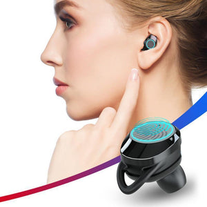 2018 Hot Swimming In-ear wireless blue tooth v5.0 earbuds headphones with box wireless stereo sport running waterproof headset for iPhone 7/8 IOS Andrio