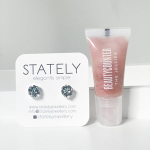 Gift #4 - Sparkly Clean (Beautycounter Lip Jellie & STATELY earrings)