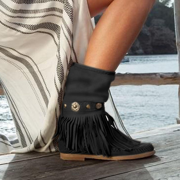 Casual Low Heel Fall Boots
