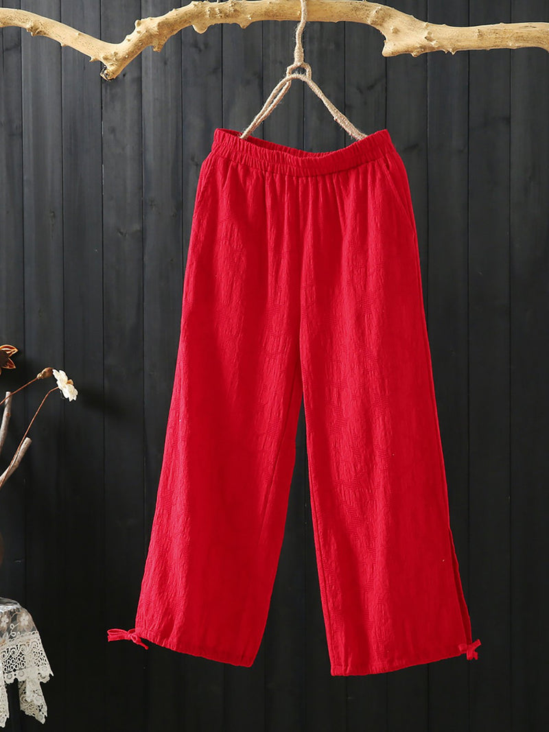 Solid Plus Size Daily Pants